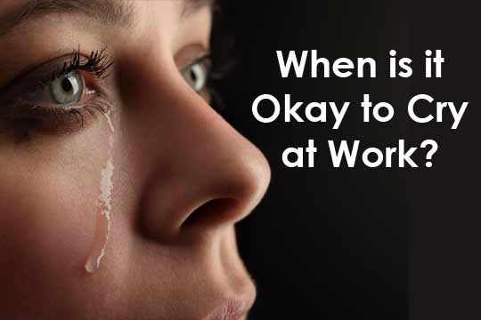 is it okay to cry at Although science insists that crying is natural, culture still sends messages that strong men don't cry many parents raise their sons to cry privately, if at all.