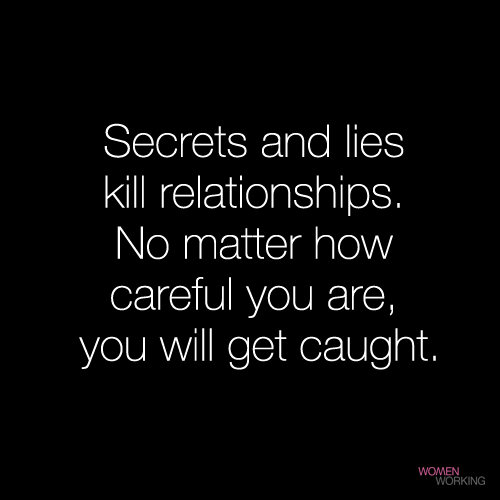 lies and secrets in a relationship