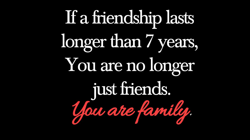 importance of family and friends in our life